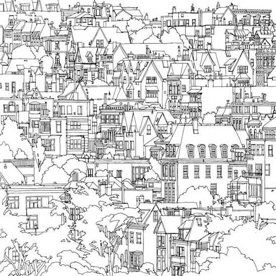 Раскраска удивительные города скачать